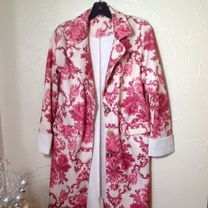 Jackets & Blazers - NWT women's Rose & Cream Paisley Coat Size Large